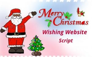 Merry Christmas Wishing Website Script,Free Festival